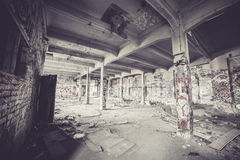 Old abandoned factory hall Stock Image