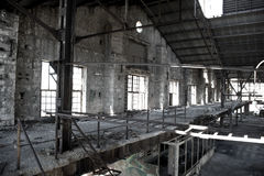 Old abandoned factory Stock Images