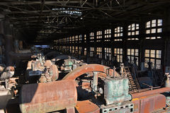 Old Abandoned Factory Rusting Generators Royalty Free Stock Photo