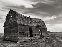 Old barn or house. Old abandoned falling down barn or house. Old western homestead maybe stock photos