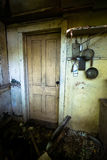Old Abandoned Far, Farmhouse Kitchen Stock Images