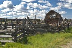 Old abandoned farm Stock Image