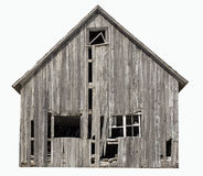 Old abandoned farm building isolated on white background Royalty Free Stock Image