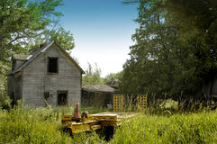 Old abandoned farm house Royalty Free Stock Images