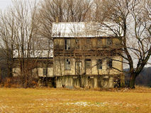 Old Abandoned Farm House. This is a photo of a long-abandoned house in rural central Pennsylvania Stock Photo
