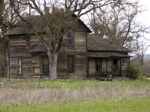 Old Abandoned Farm House. Old Run-down Abandoned Haunted Farm House - Historical Site royalty free stock photos