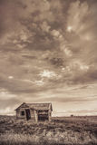 Old abandoned farm house on Colorado prairie Stock Images