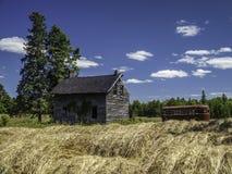 Old Abandoned Farm House. Retro Stock Photos