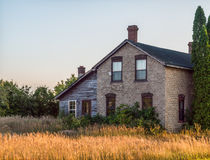 Old Abandoned Farm House. In rural ontario Stock Photos