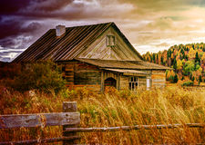 Old abandoned farmhouse. Stock Photo