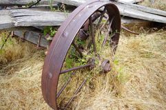 Old abandoned farming equipment. Royalty Free Stock Image