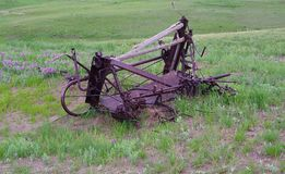Old abandoned farming equipment Royalty Free Stock Images