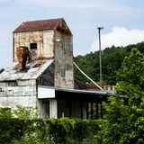 Old abandoned feed mill Royalty Free Stock Photo