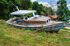 Old Abandoned Fishing Boat Royalty Free Stock Photos