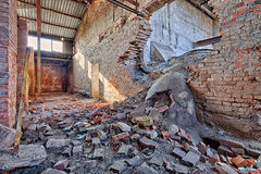 Old, abandoned and forgotten brick factory Royalty Free Stock Photos