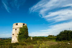 Old abandoned fort from the time of the Ottoman Empire in Cro. An old abandoned fort from the time of the Ottoman Empire in Croatia royalty free stock photos