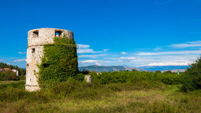 An old abandoned fort from the time of the Ottoman Empire Stock Photo