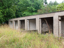 Old abandoned garage Stock Photos