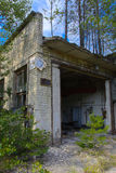 An old abandoned garage for repairing vehicles in the zone. Stock Image