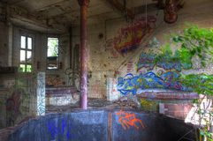 Old abandoned German brewery Royalty Free Stock Photo