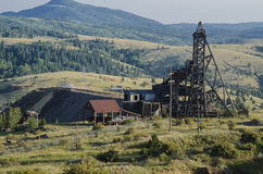 Old Abandoned Gold Mine located in Victor Colorado Stock Images