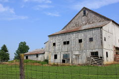 Old abandoned gray barn Royalty Free Stock Photo