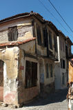 Old abandoned Greek houses in Turkey Stock Photo