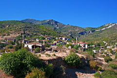 Old abandoned Greek/Turkish village of Doganbey, Turkey Royalty Free Stock Photos