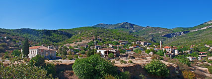 Old abandoned Greek/Turkish village of Doganbey, Turkey Stock Images