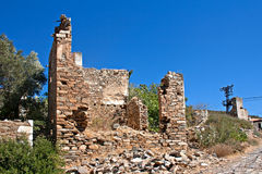 Old Abandoned Greek/Turkish Village Of Doganbey, Turkey Stock Images