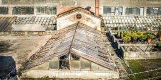 old abandoned greenshouse Stock Images