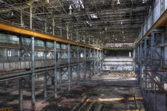 Old abandoned hall Royalty Free Stock Images