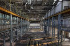 Old abandoned hall, several images available Stock Photography