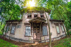 Old abandoned haunted house in the forest Stock Images