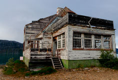 Old Abandoned haunted house in Greenland Stock Image