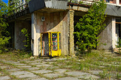 Old abandoned high-rise buildings in a dead radioactive zone. Royalty Free Stock Photography