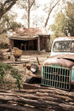 Old abandoned home of the wild west days stock photography