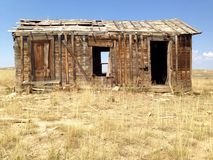 Old abandoned homestead. Old abandoned house or homestead in Wyoming Stock Photos
