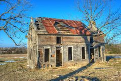 Abandoned Shack. Old abandoned homestead in rural northwest Arkansas Royalty Free Stock Photo