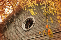 Old abandoned house in autumn Stock Images