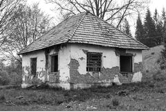 Old abandoned house. In black and white design Stock Image