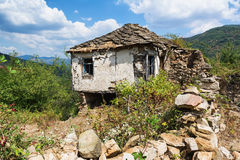 Old abandoned house from Bulgarian village in Rodopi mountain Royalty Free Stock Photo