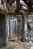 Old abandoned house in Bulgarian village, Rodopi mountain Royalty Free Stock Photo