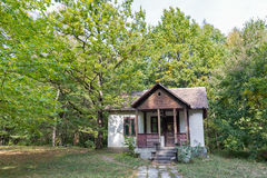 Old abandoned house close to Schonborn Castle. Chynadiyovo, Ukraine. Royalty Free Stock Images