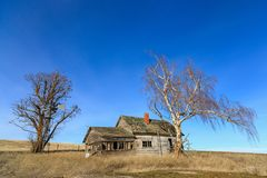 Old abandoned house in the countryside. Stock Photo
