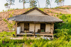Old abandoned house in the countryside Stock Images