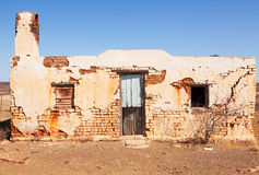 Old Abandoned House In Desert Area Royalty Free Stock Images