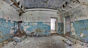 Old abandoned house inside hdr panorama Stock Photo