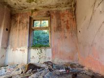 Old abandoned house interior Royalty Free Stock Image