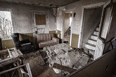 Old Abandoned House Interior Stock Photo